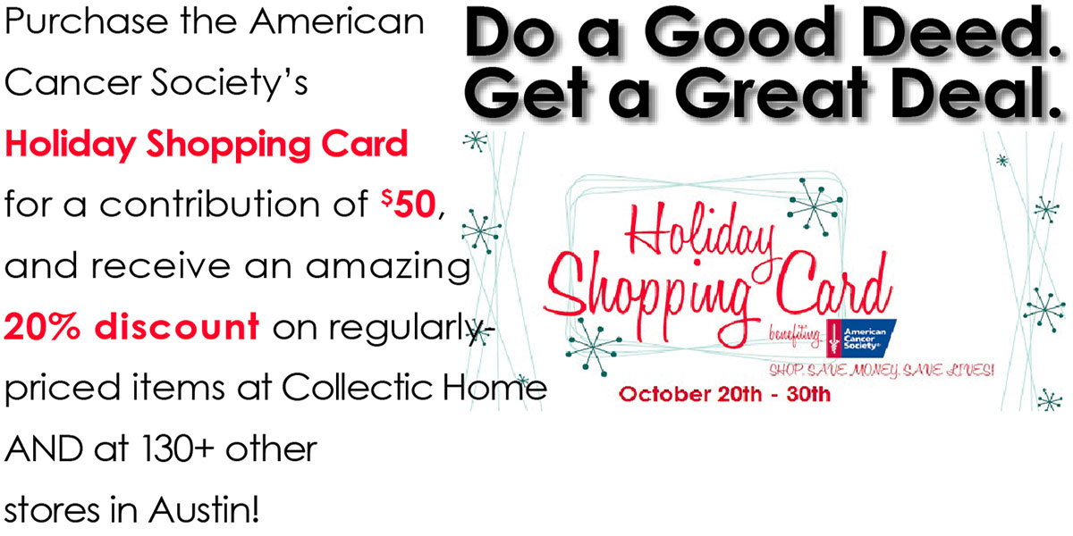 Get the Holiday Shopping Card at Collectic Home