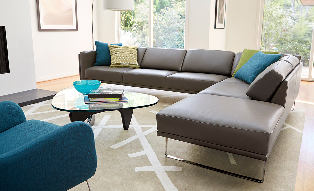 Modern sectional sofas american furniture warehouse for Affordable furniture orange tx