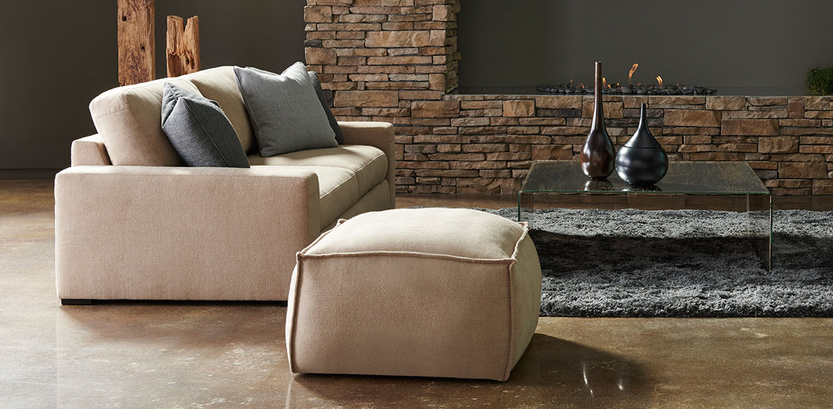 American Leather Collins Ottoman