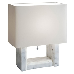 Adelphi Contemporary White Marble Table Lamp