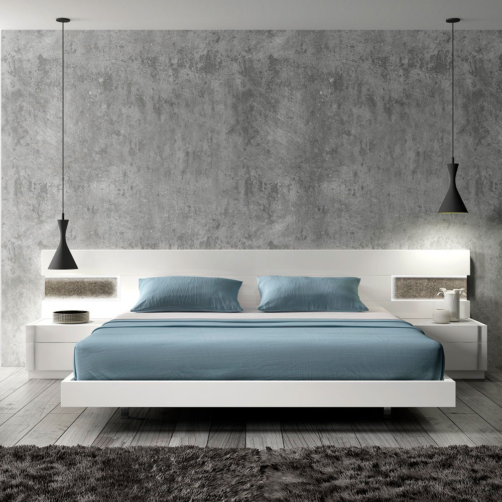 Aliso Modern White Bedroom Collection
