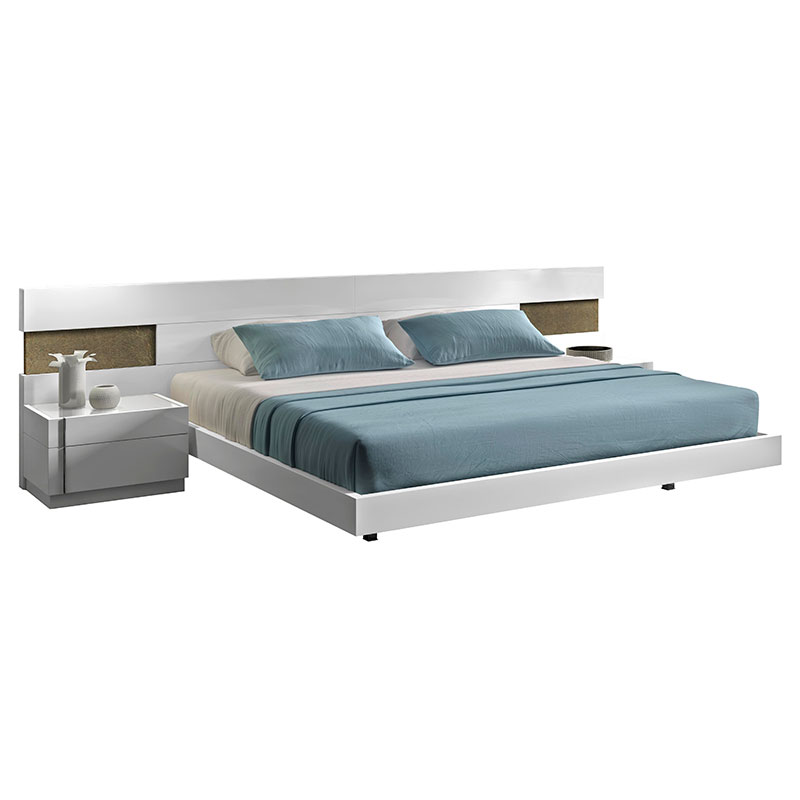 Aliso Modern Nighstand Shown with Bed