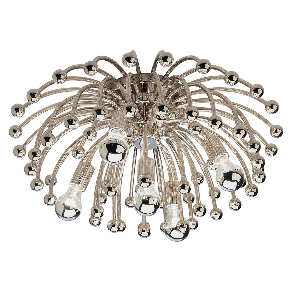 Anemone Flush Mount Ceiling Light | Collectic Home:Anemone Flush Mount Ceiling Lamp Side View,Lighting