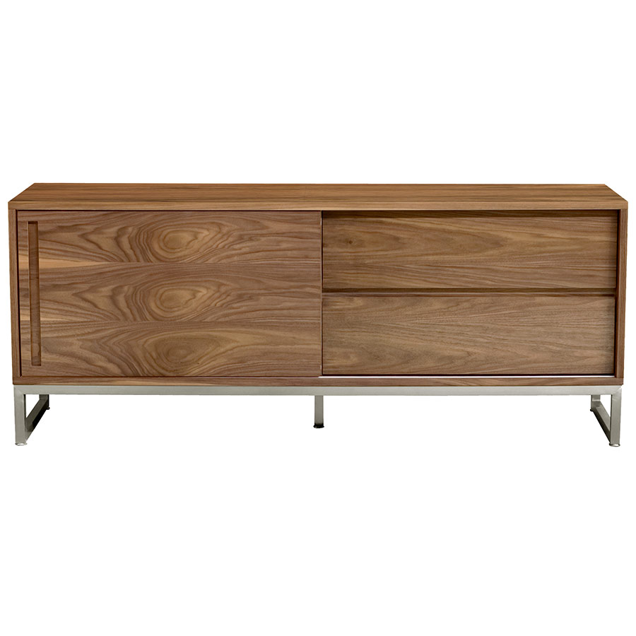 Annex Contemporary Media Stand in Walnut by Gus Modern