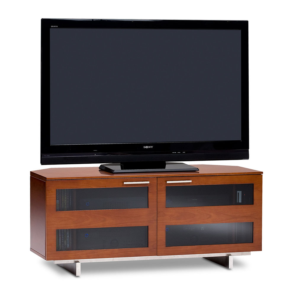 Bdi avion small contemporary tv stand collectic home for Petite table tv