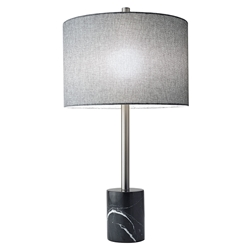 Ballard Contemporary Table Lamp w/ Black Marble Base