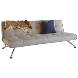 Clubber Modern Sleeper Sofa in Khaki by Innovation