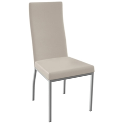 Curve Dining Chair Shown in Magnetite and Oyster