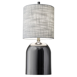Darwin Contemporary Black Nickel Table Lamp