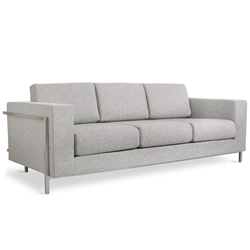 Davenport Contemporary Sofa in Totem Pebble