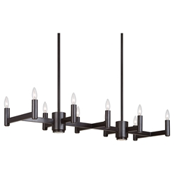 Delany Linear Contemporary Hanging Lamp by Robert Abbey
