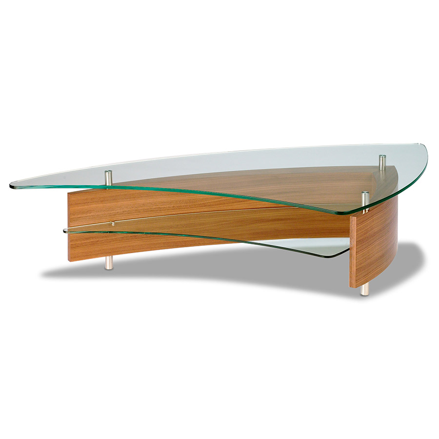 Fin modern cocktail table by bdi eurway modern furniture for Cocktail tables