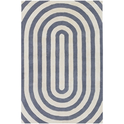Geometric 8x10 Rug in Grey and Cream