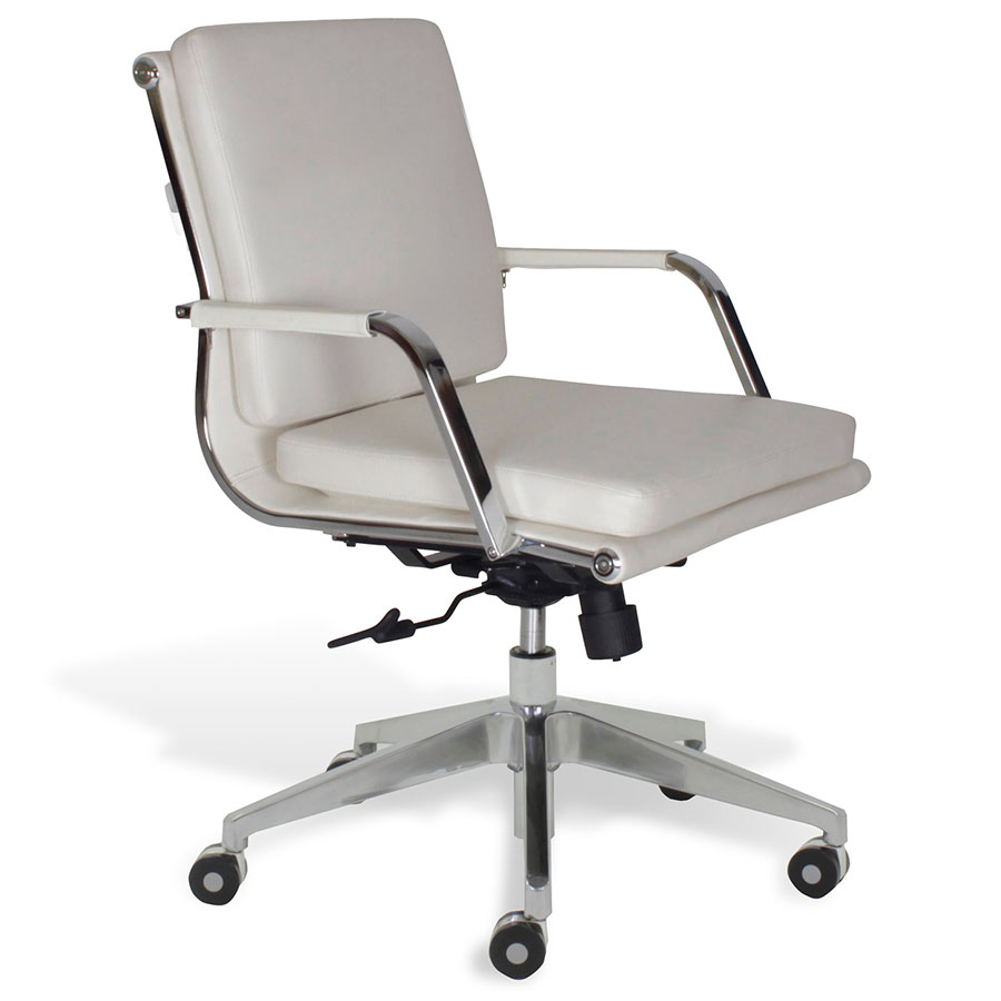 Jesper Greta Wht Low Back Office Chair Collectic Home