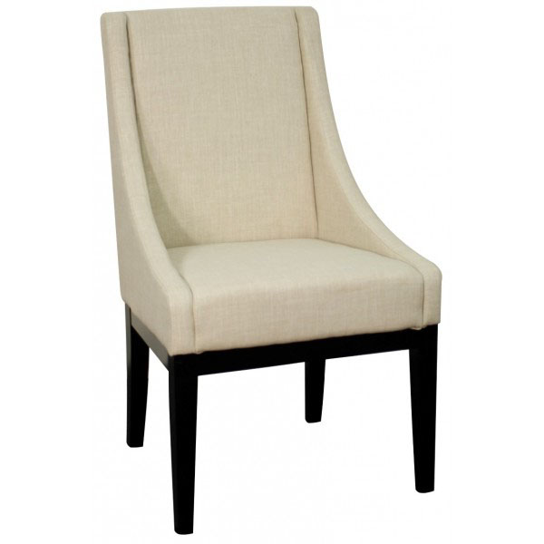 Howard Contemporary Dining Chair in Linen