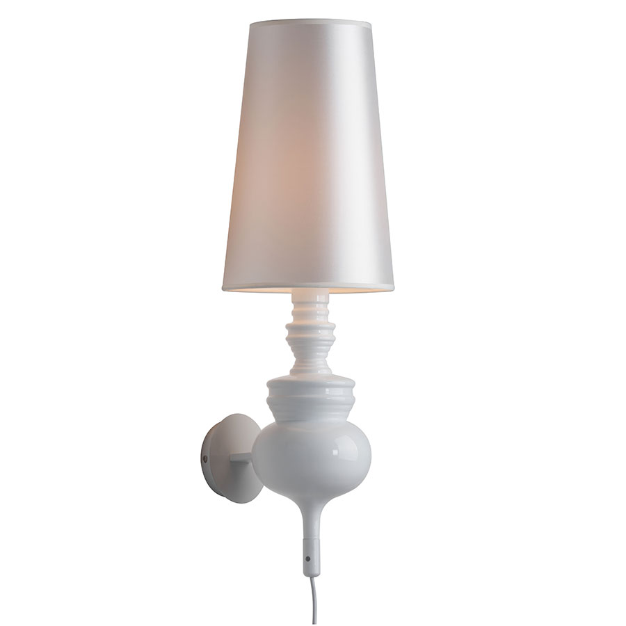 Idris White Contemporary Wall Sconce Collectic Home