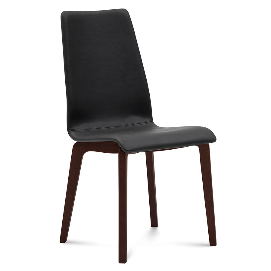 Jake Chocolate + Black Modern Dining Chair
