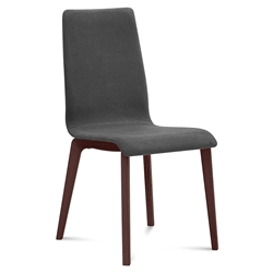 Jake Chocolate + Charcoal Modern Dining Chair