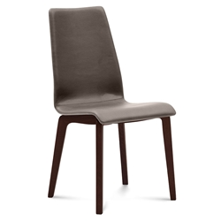 Jake Choclolate + Taupe Modern Side Chair