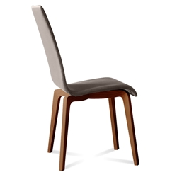 Jake Walnut + Taupe Modern Dining Chair