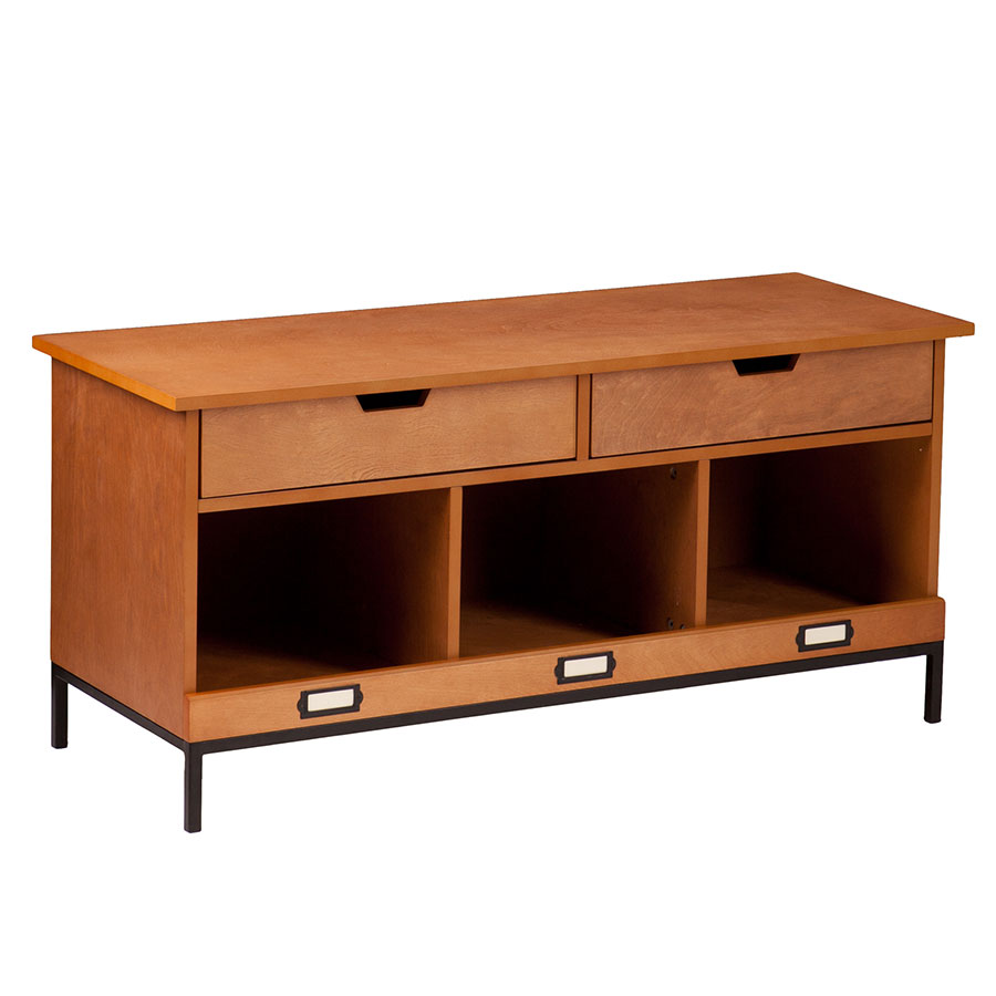 Justine Contemporary Storage Bench Collectic Home