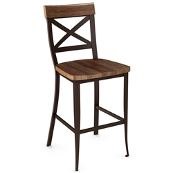Kyle Wood Bar Stool by Amsico