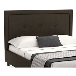 Legend Contemporary Upholstered Headboard in Coal Fabric