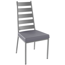 Level Dining Chair Shown in Magnetite and Pewter