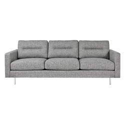 Logan Contemporary Sofa in Sterling Gravel by Gus* Modern