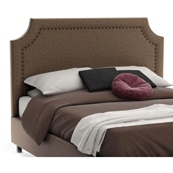 Milton Contemporary Upholstered Headboard in Chameleon Fabric