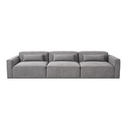 Mix Modular 3 Piece Contemporary Sofa in Vintage Smoke by Gus* Modern