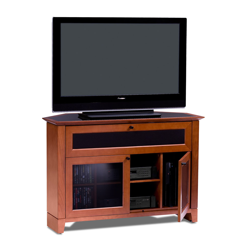 bdi novia contemporary corner tv stand collectic home. Black Bedroom Furniture Sets. Home Design Ideas