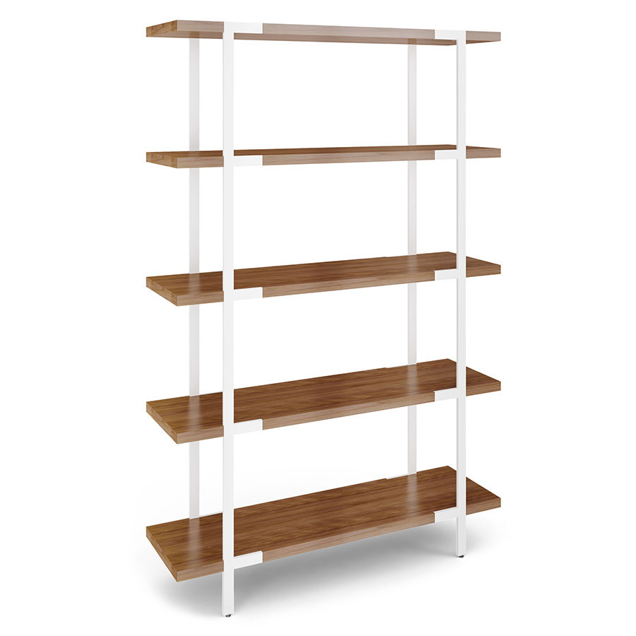 Contemporary Shelf Bdi Phase White Walnut Modern Shelf Collectic Home