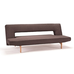puzzle wood sofa brown upright