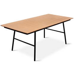 School Contemporary Dining Table by Gus Modern in Natural Oak