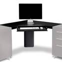 Sequel Corner Desk Top w/ Keyboard Tray