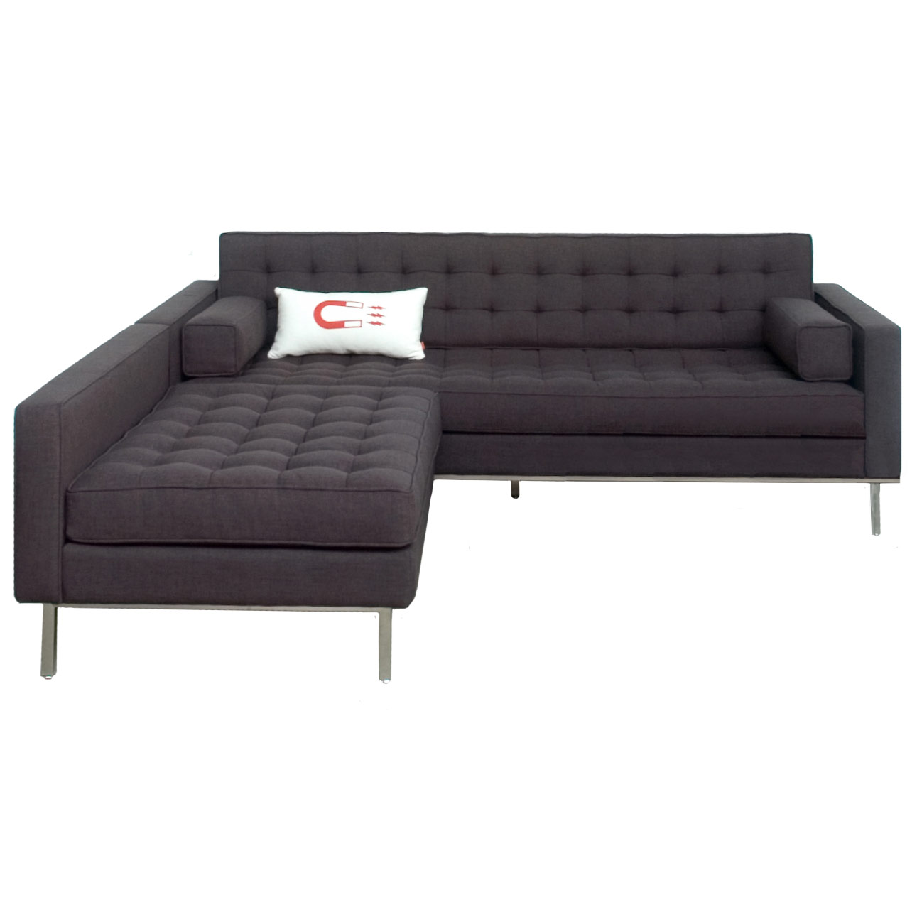 Collectic Home Gus Modern Spencer Loft Bi Sectional Ink Eurway