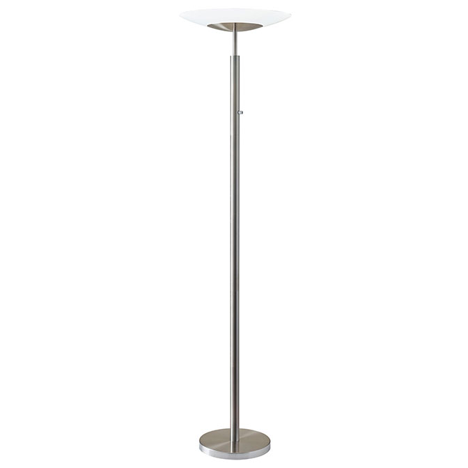 Stroud contemporary led torchiere lamp collectic home for Contemporary torchiere floor lamps