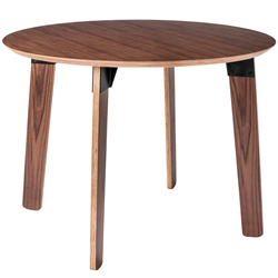 Sudbury Contemporary Round Table by Gus Modern in Walnut