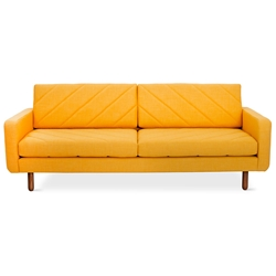 Switch Contemporary Sofa in Laurentian Citrine - Diagonal Pattern