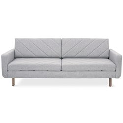 Switch Contemporary Sofa in Parliament Stone - Diagonal Pattern