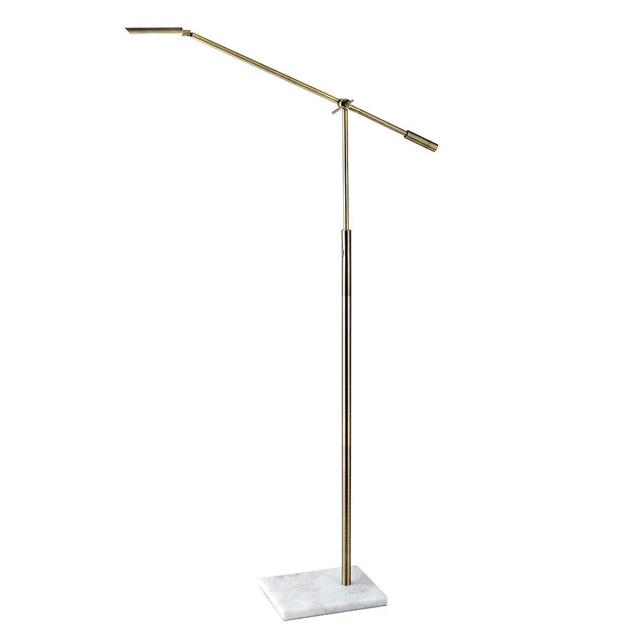 Valda contemporary led floor lamp collectic home for Led articulated floor lamp