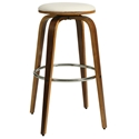 York Contemporary Bar Stool in Ivory