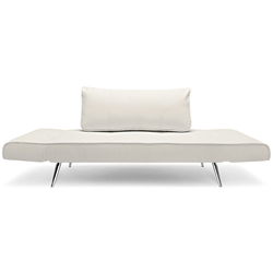Zeal Deluxe Daybed in White Leatherette by Innovation