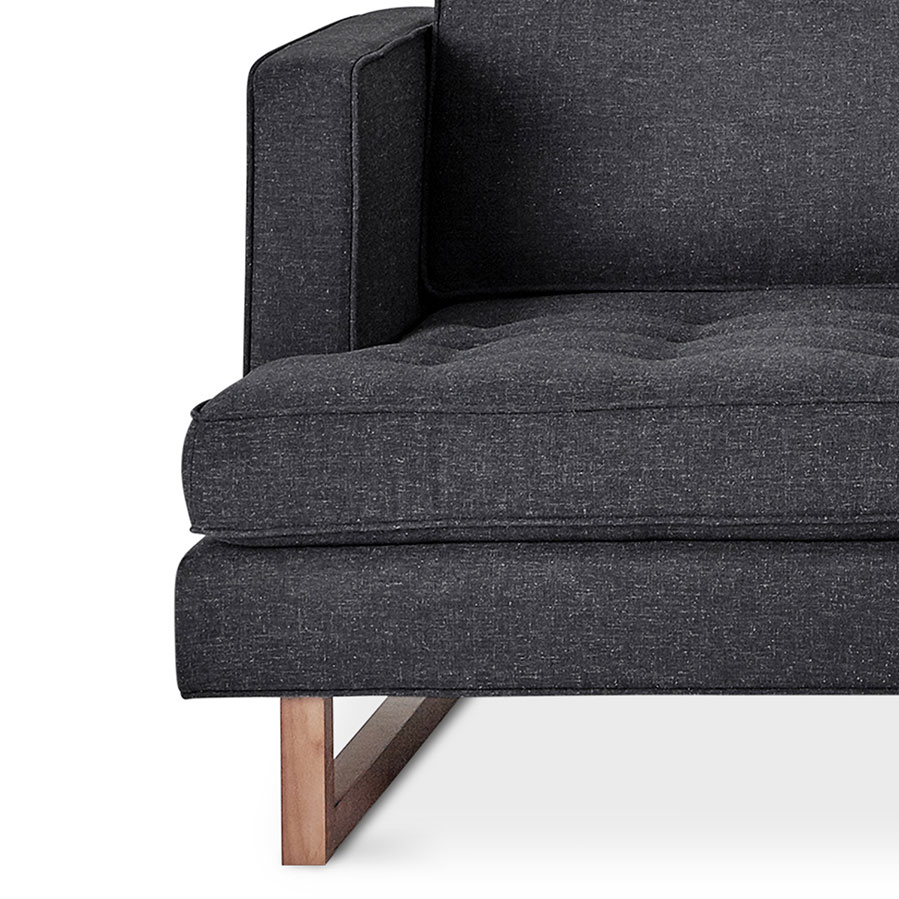 Gus modern aubrey contemporary sofa in berkeley shield fabric upholstery and a solid walnut base