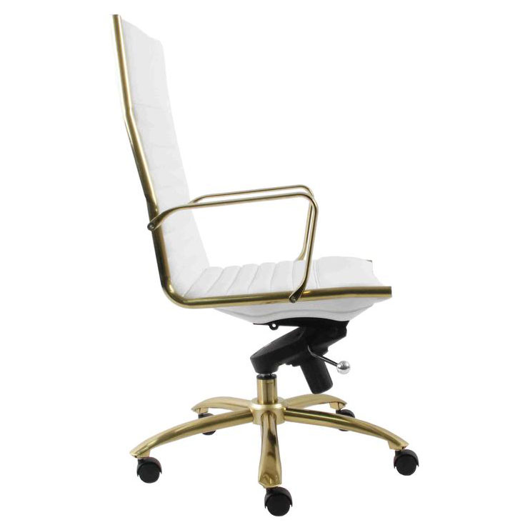 Office Chair White Gold Collectic, White And Gold Office Chair High Back