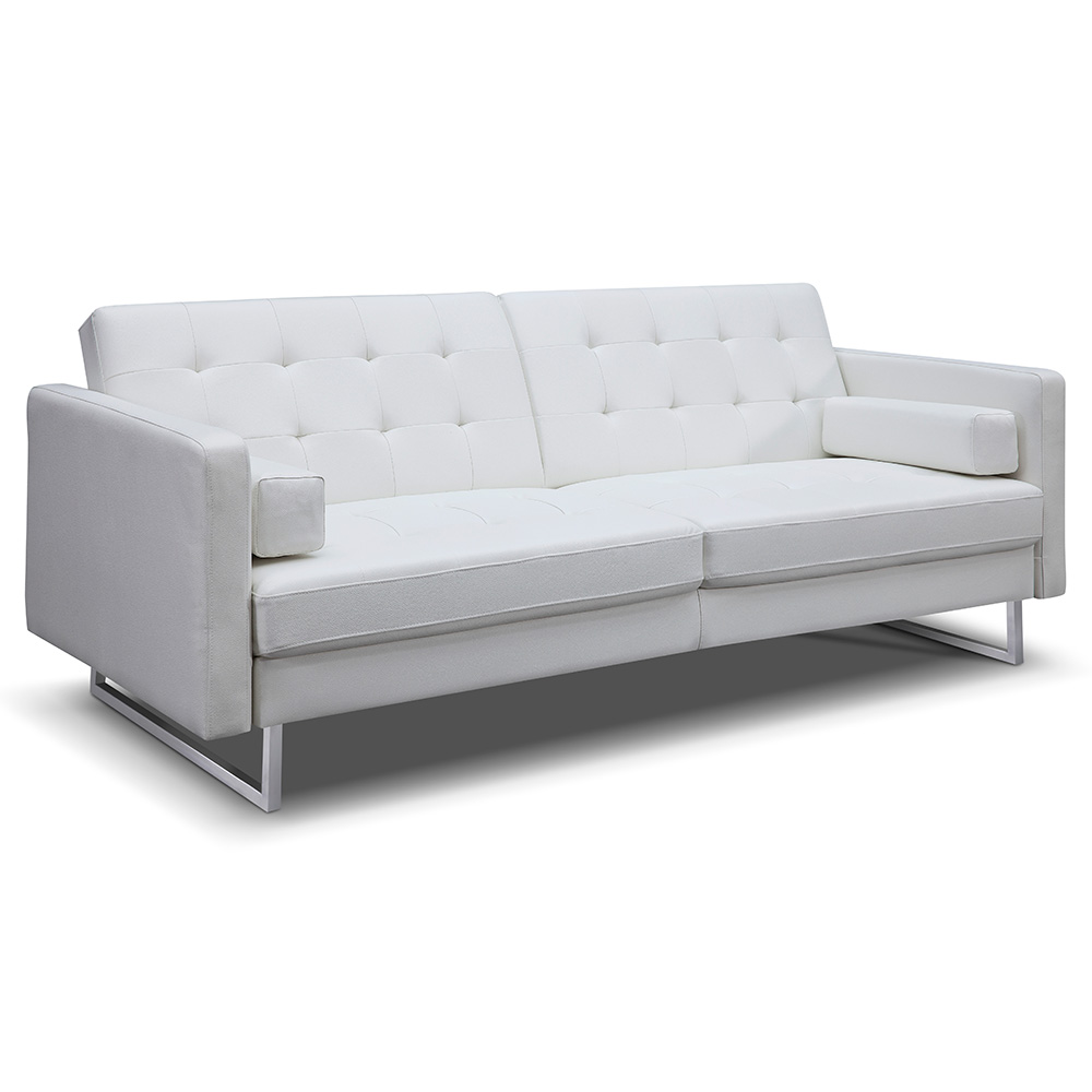 Giovanni Sofa Bed | White Faux Leather | Collectic Home