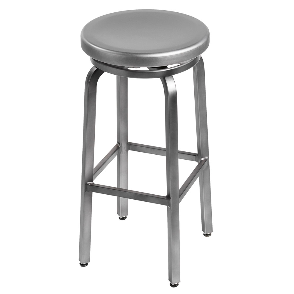 Miller B Swivel Bar Stool Brushed