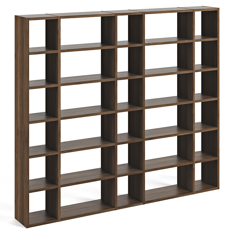 Pombal walnut 100 modern bookcase by temahome eurway furniture