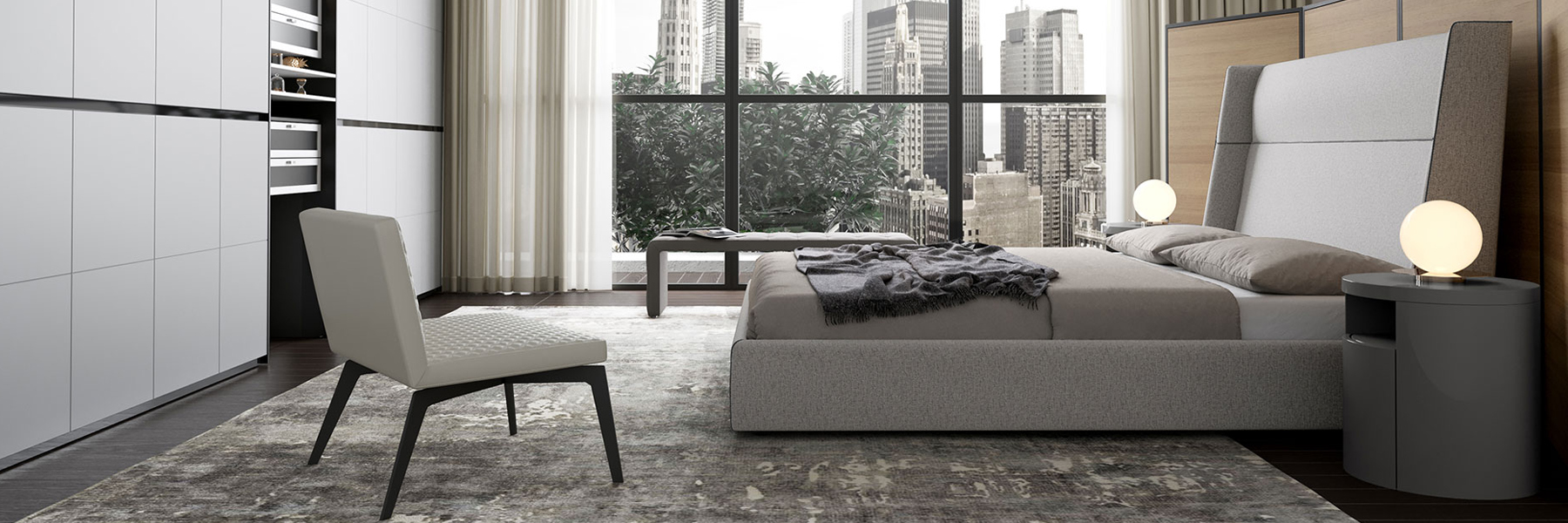 Upscale Contemporary Bedroom Furniture Showroom in Austin, TX